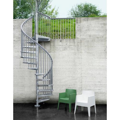 Escalera de caracol steel zink circular uso exterior diametro 120cm galvanizado