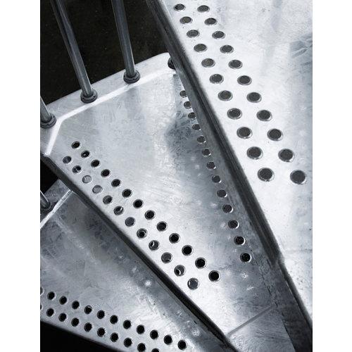 Kit de peldaños steel zink para escalera de diametro 120cm galvanizado