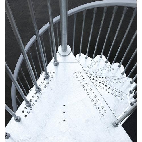 Kit de peldaños steel zink para escalera de diametro 160cm galvanizado
