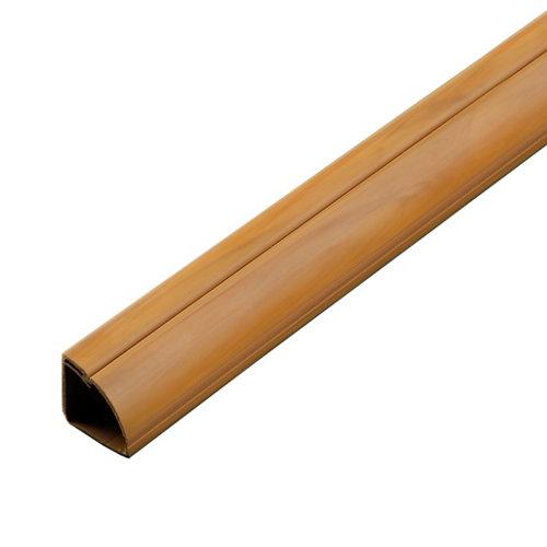 Canaleta de esquina d-line madera 22x22 mm de 2 m