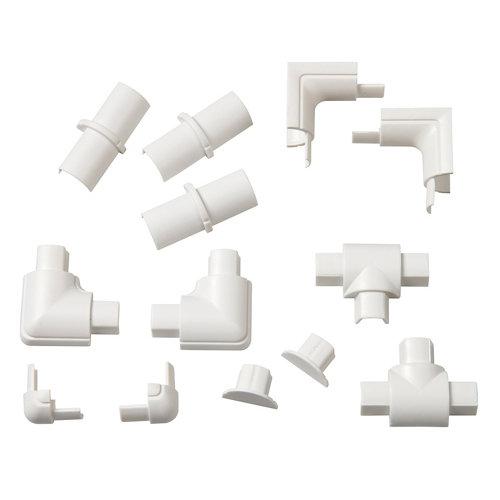 Kit de accesorios d-line blancos 16x8 mm