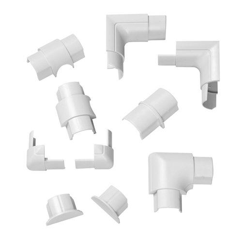 Kit de accesorios d-line blancos 30x15 mm