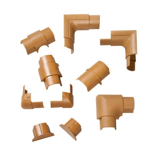 Accesorios d-line para canaleta semicircular madera 30x15 mm