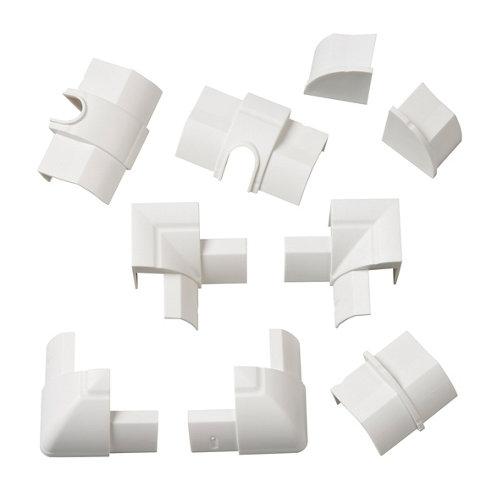 Kit de accesorios d-line blancos 22x22 mm