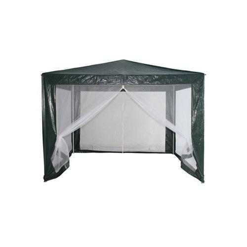 Gazebo de exterior de metal naterial con mosquiteras 300x295 cm