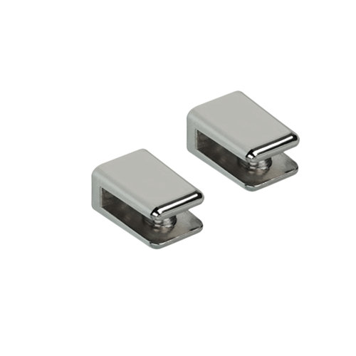 2 soporte clip para balda para baldas de 6 mm y 5 kg de carga máx
