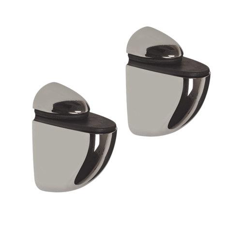 2 soporte clip para balda para baldas de 24 mm y 30 kg de carga máx