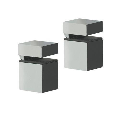 2 soporte clip para balda para baldas de 16 mm y 30 kg de carga máx