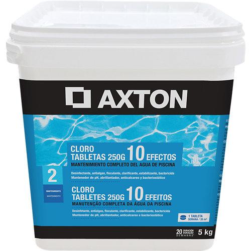 Cloro 10 efectos axton en pastillas 5 kg