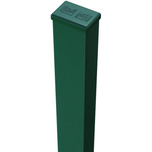 Poste de acero y pvc verde de 40mm y 65 cm