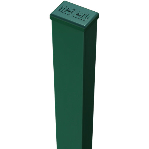 Poste de acero y pvc verde de 40mm y 125 cm