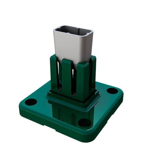 Soporte poste para suelo hormigón de acero para poste de cm