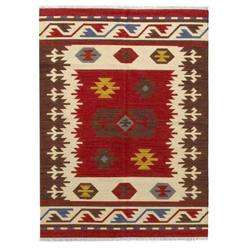 Alfombra multicolor lana kilim kayseri 160 x 230cm