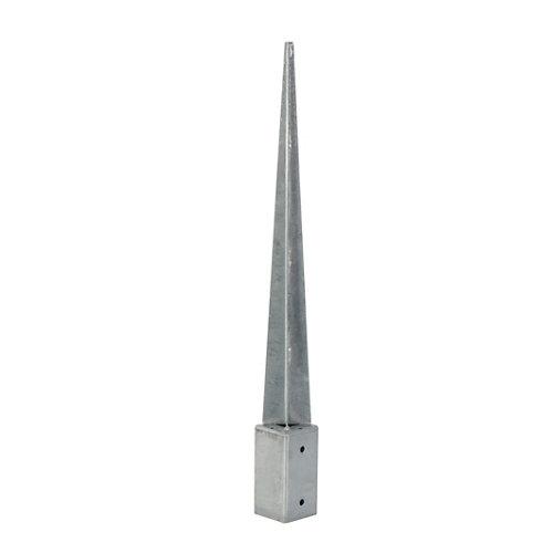 Soporte poste para suelo hormigón de acero galvanizado para poste de 7 x 7 cm