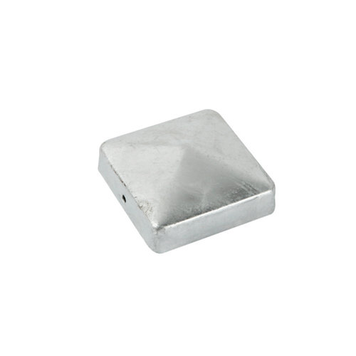 Terminal poste madera gris / plata 7x7 cm