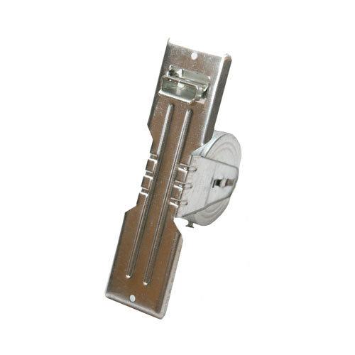 Recogedor para persiana de acero galvanizado gris de 48x190x115 mm