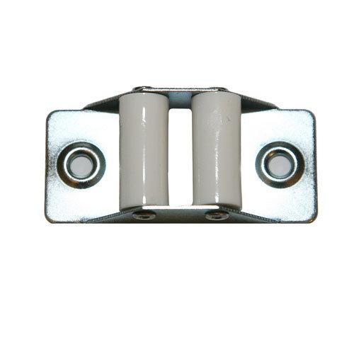 Guía cinta para persiana de acero gris / plata de 30x66x17 mm