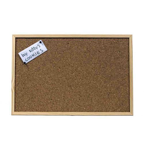 Pizarra con moldura de 90 x 60 cm marrón