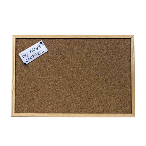 Pizarra con moldura de 60 x 40 cm marrón