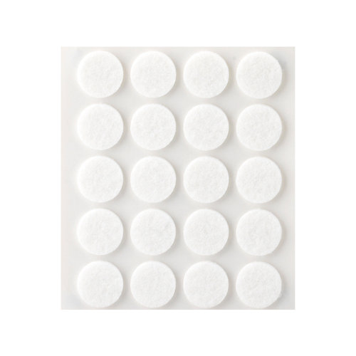 20 fieltro redondos de fieltro de 17x17 mm