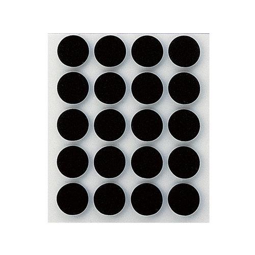 20 antideslizante redondos de goma de 17x17 mm