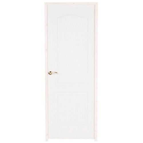 puerta prepintada provenzal blanco de apertura derecha de 72.5 cm