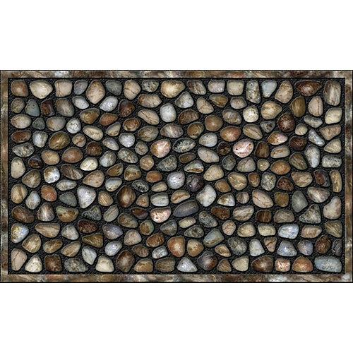 Felpudo multicolor de caucho 45 x75 cm