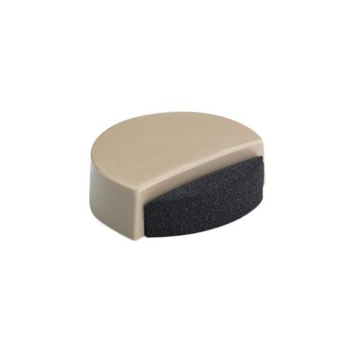 Tope de puerta para fijar en suelo beige de de 4x1,4x4 cm