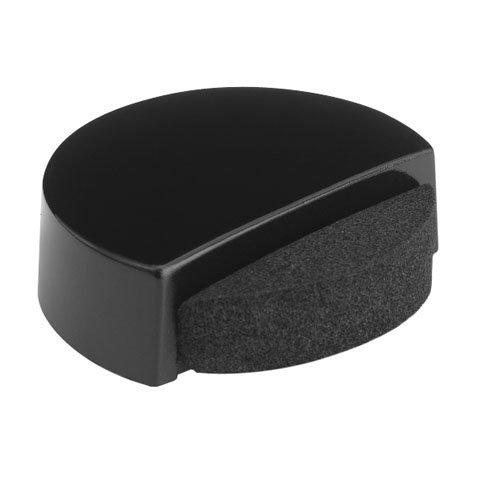 Tope de puerta para fijar en suelo negro de 4x1,4x4 cm
