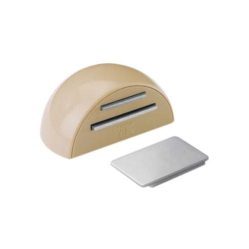 Tope de puerta para fijar en suelo beige de 5,2x2,6x4 cm