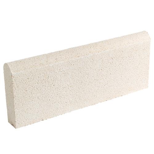 Bordillo redondo castellón 20x50 cm blanco