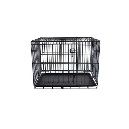 Jaula de metal plegable para mascotas 106x73x80 cm