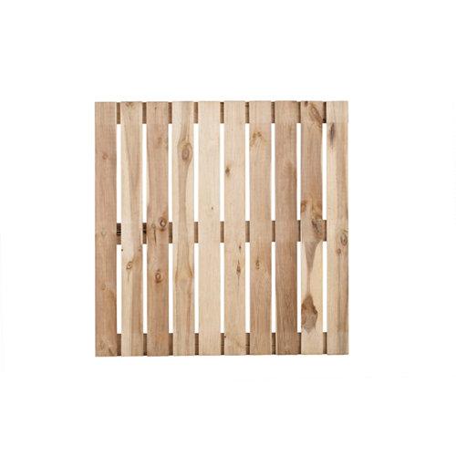 Baldosa de madera de pino para exterior adis 100x100 cm y 28 mm