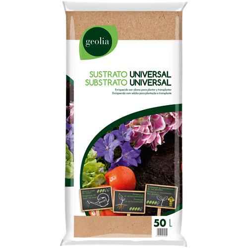 Sustrato universal geolia para todo tipo de plantas de interior y exterior 50l