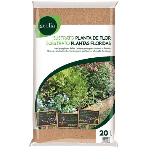 Sustrato para plantas flor geolia de uso interior y exterior 20l