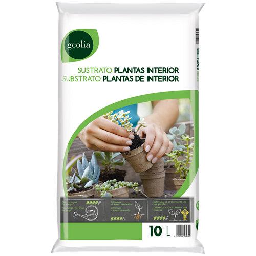 Sustrato para plantas verdes y palmeras geolia de interior y exterior 10l