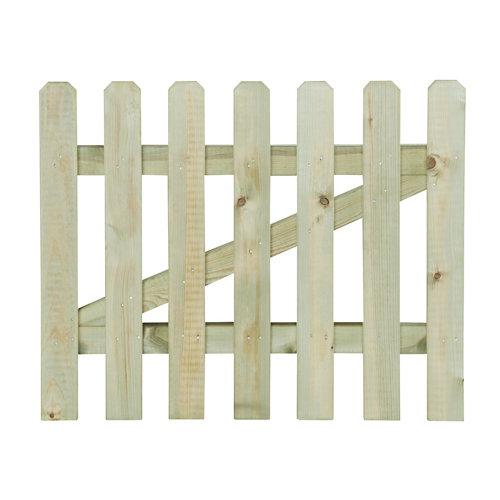 Puerta batiente de madera hurricane 4x80 cm