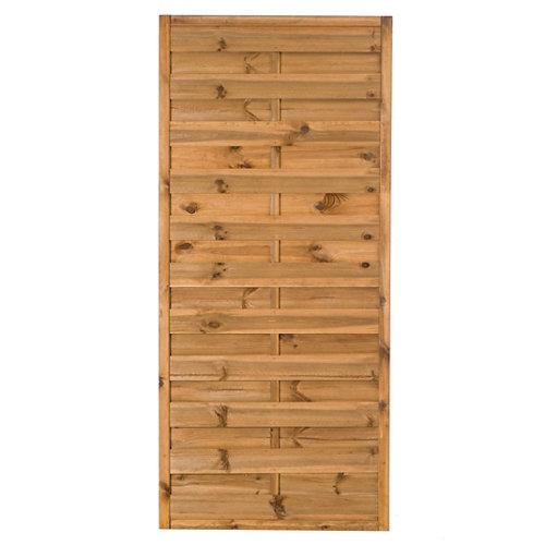 Panel de exterior recto de madera marrón 90x200cm