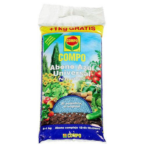 Abono azul universal compo novatec para todo tipo de plantas 5+1kg gratis