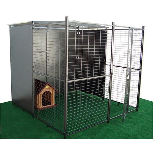 Kit metálico parque para perros premium 200x200 cm