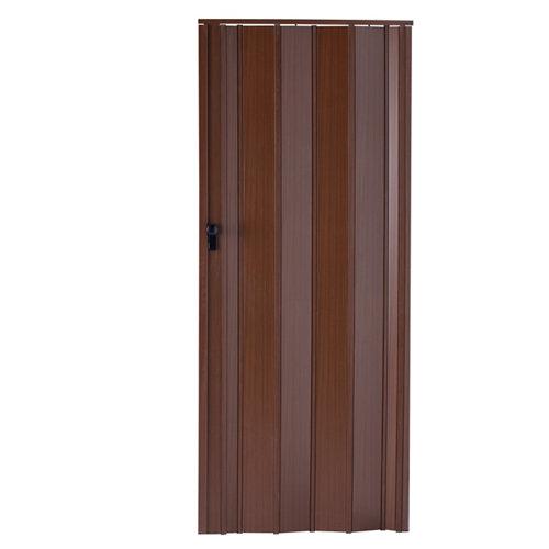 Puerta plegable de pvc nogal 85 x 205 cm
