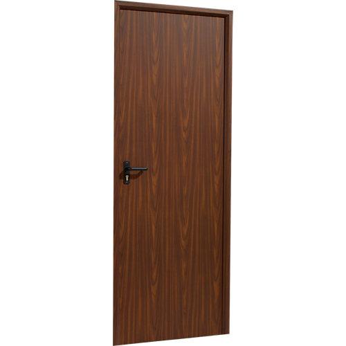 Puerta de servicio derecha nogal/nogal de 200x80 cm