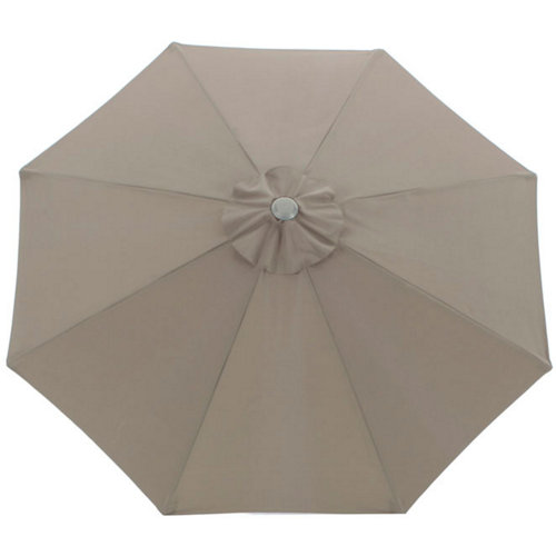 Toldo para parasol de poliéster marrón de 250x250 cm