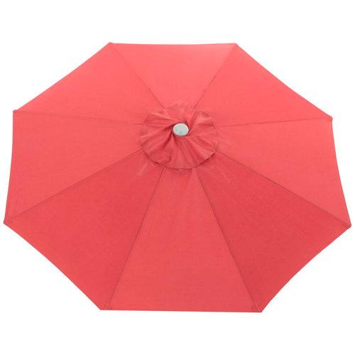 Toldo para parasol de poliéster rojo de 300x300 cm