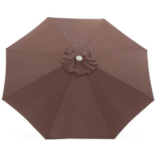 Toldo para parasol de poliéster marrón de 300x300 cm