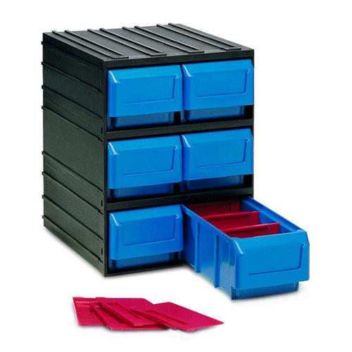 Organizador de tornillos de plástico con 6 cajones de 32.1x24.5x29.1 cm