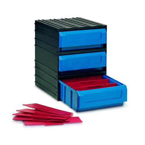 Organizador de tornillos de plástico con 3 cajones de 32.1x24.5x29.1 cm