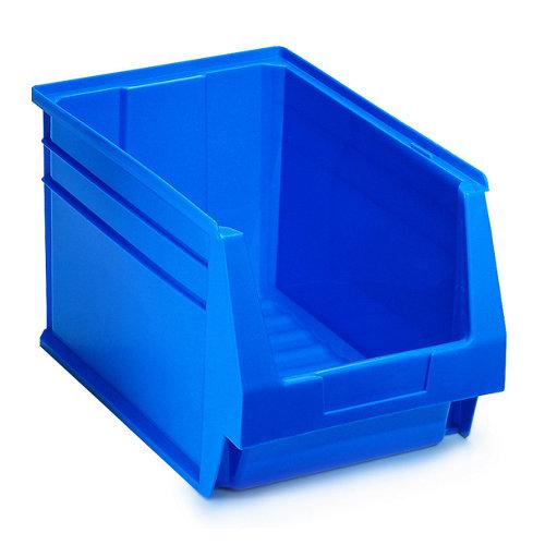 Gaveta de plástico en azul encajable de 21.6x20x33.6 cm