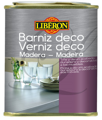 Barniz LIBÉRON 0.5 l gris / plata melaminado, estratificado, madera barnizada