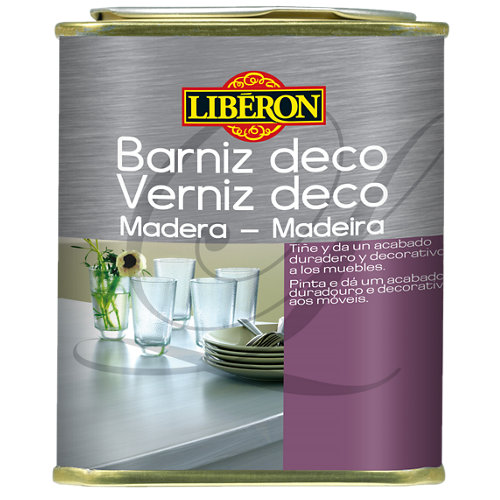 Barniz deco para madera gris perla 0,5l
